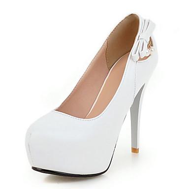 Mujer Zapatos PU Verano / Otoño Confort / Innovador Sandalias Tacón Cuña Puntera abierta Remache / Cremallera Negro / Almendra / Boda explorer YPPVb6zQ6m