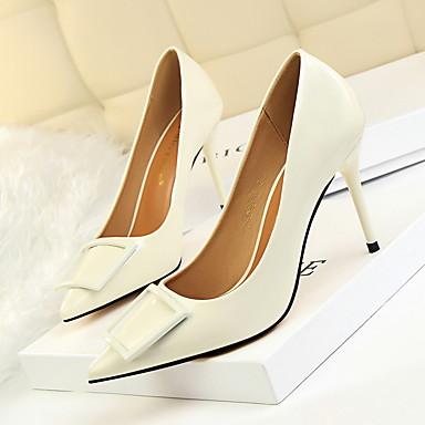 Chaussures Talon Printemps Chaussures Kaki Similicuir 06261070 Aiguille Vert Rouge Bout Femme pointu Automne Confort Habillé Talons à dqEW8B