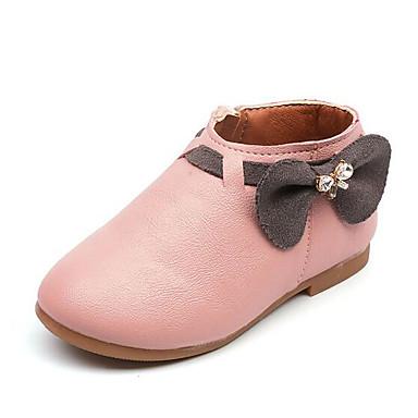Χαμηλού Κόστους Ξεπούλημα Παπουτσιών-Κοριτσίστικα Δερματίνη Μπότες Τα μικρά παιδιά (4-7ys) Ανατομικό Μπεζ / Γκρίζο / Ροζ Άνοιξη / Φθινόπωρο