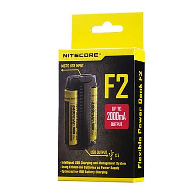 Nitecore F2 Akkumulátor töltő mert Lítium akkumulátor 10440,14500,16340 (RCR123),17335,17500,17670,18490,18650,26650