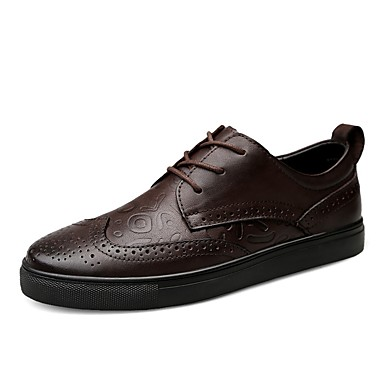 Men's Formal Shoes Leather / Nappa Leather Fall Black / Winter Comfort Sneakers Black Fall / Dark Brown / Party & Evening 05d47c