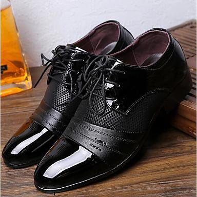 abordables Meilleures Ventes-Homme Chaussures de confort Polyuréthane Printemps / Automne British Oxfords Noir / Marron / EU40