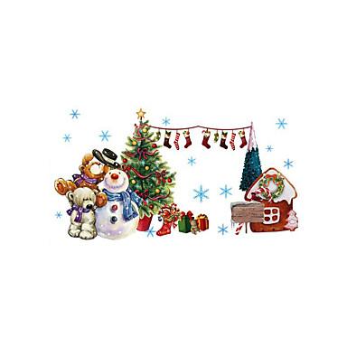 Dekoratív falmatricák - 3D-s falmatricák Állatok / Karácsony / Botanikus Nappali szoba / Hálószoba / Fürdőszoba