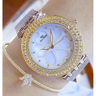 povoljno Nakit i ručni satovi-Žene Luxury Watches Ručni satovi s mehanizmom za navijanje Diamond Watch Japanski Kvarc Nehrđajući čelik Srebro 30 m Casual sat Analog dame Šarm Moda Bling Bling - Zlato Pink Rose Gold
