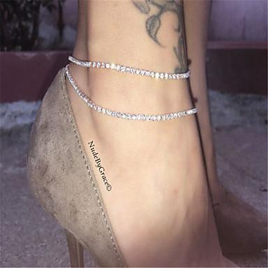 Tornezeleira - Fashion Prateado / Dourado Para Diário Casual Mulheres / Strass
