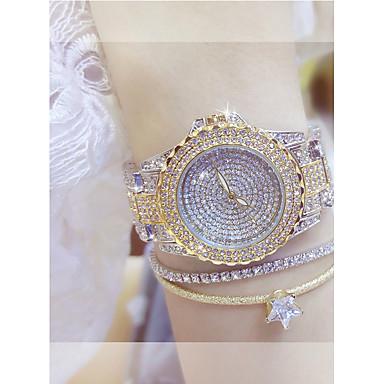 cheap Women's Watches-Women's Luxury Watches Wrist Watch Diamond Watch Quartz Stainless Steel Silver / Gold Casual Watch Analog Ladies Elegant - Gold Silver