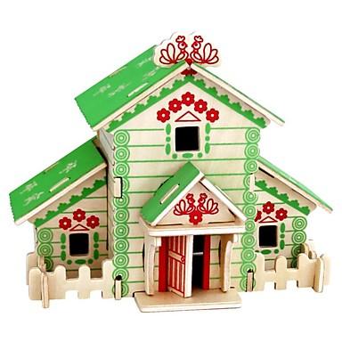 voordelige 3D-puzzels-3D-puzzels Houten puzzels Houten modellen Modelbouwsets Huizen Mode Huis Klassiek Mode Nieuw Design DHZ Hot Sale Hout 1pcs Modern /