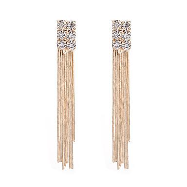 Women's Tassel Drop Earrings - Rhinestone Tassel, Fashion Gold For Daily / Date