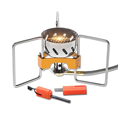 Camping Burner Stove Single Stainless Steel / Copper Outdoor for Camping / Hiking / Picnic / BBQ