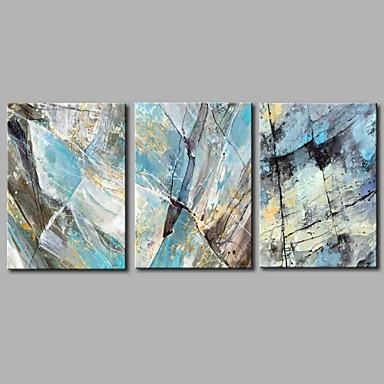 abordables Toiles-Imprimé Impression sur Toile - Abstrait Artistique Trois Panneaux Art Prints