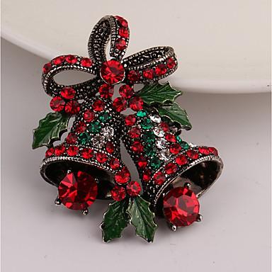 voordelige Dames Sieraden-Dames Broches Klassiek Bel Dames Strass Broche Sieraden Goud Voor Kerstmis Lahja
