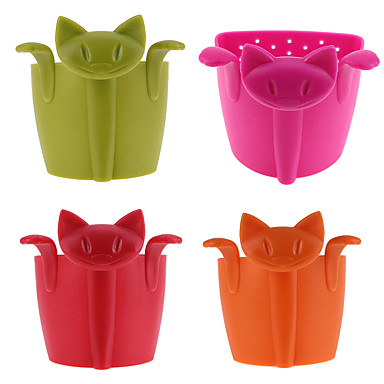 Silicone Creative Kitchen Gadget / Tea Cat 1pc Filter / Tea Strainer / Gift / Daily