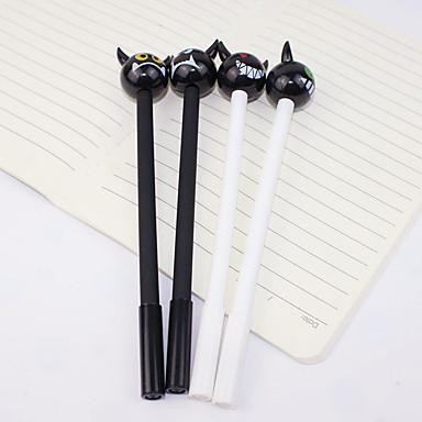 Gel Pen Toll Gél tollak Toll, Műanyag Fekete Ink Colors Kompatibilitás Iskolai felszerelés Irodaszerek Csomag 12 pcs