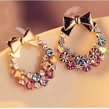Pentru femei Cercei Stud Ștras Clasic Bling bling Ștras Aliaj Bowknot Shape Bijuterii Zilnic Ieșire Costum de bijuterii