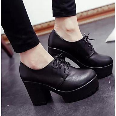 Mujer Zapatos Sintéticos Otoño Confort / Pump Básico Tacones Tacón Cuadrado Negro / Wine Sortie D'usine À Vendre cTzCtFDGM6