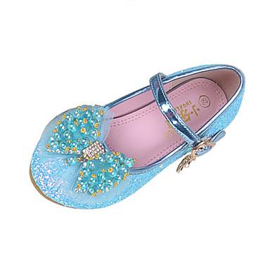 Lány Cipő Csillogó flitter Tavaszi nyár Kényelmes / Újdonság Lapos Csokor / Gyöngy / Csat mert Bíbor / Kék / Rózsaszín / Esküvő