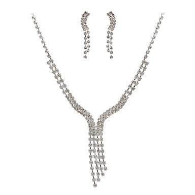 Damskie Rhinestone Imitacja diamentu Biżuteria Ustaw Zawierać 1 Naszyjnik Náušnice - Klasyczny Imitacja diamentu Stop Geometric Shape