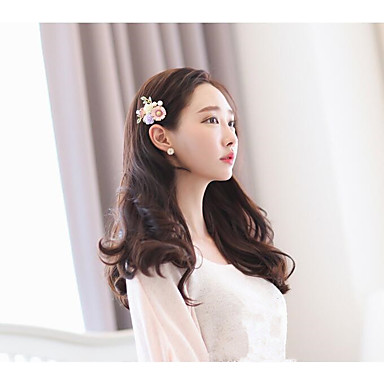 Tulle Alloy Hair Clip with Feather 1 Wedding Birthday Event/Party Headpiece