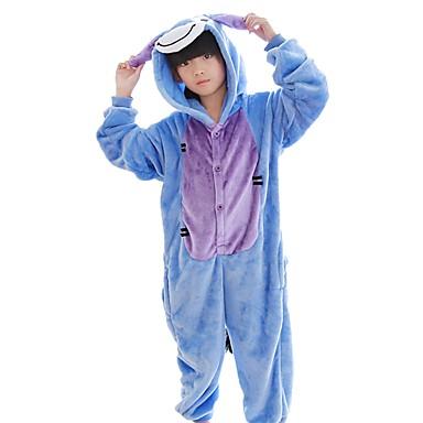 Kid's Kigurumi Pajamas Donkey Onesie Pajamas Costume Flannel Fabric Blue Cosplay For Animal Sleepwear Cartoon Halloween Festival / Holiday / Christmas