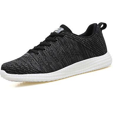 Men's Comfort Shoes Tulle Spring / Fall Athletic Shoes Walking Shoes Black / Red / Blue / Lace-up
