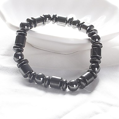 Men's / Women's Strand Bracelet / Magnetic Bracelet - Fashion Bracelet Black For Daily