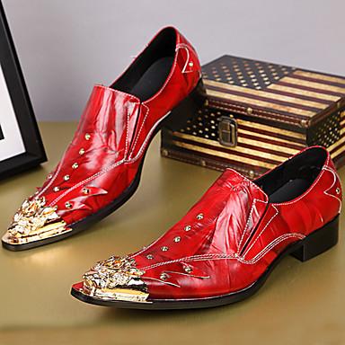 Férfi Formális cipők Nappa Leather Ősz / Tél Vintage Papucsok & Balerinacipők Piros / Party és Estélyi / Party és Estélyi