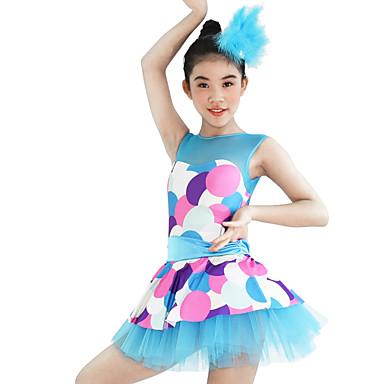 77bc134c3 Ropa de Baile para Niños Vestidos Mujer Rendimiento Elástico Elastán Licra  Diseño   Estampado Sin Mangas
