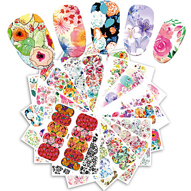 25pcs/set Water Transfer Sticker / Nail Sticker Flower Flower / Nail Decals Flowers / Nail Art Design Fashionable Design / Flower Daily / Date / Holiday