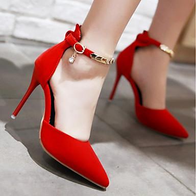 Chaussures 06318366 Confort Cuir Boucle Printemps pointu Mariage Noir Bout Nubuck à Automne Rouge Chaussures Nouveauté Femme Talons aXRdxqpwa