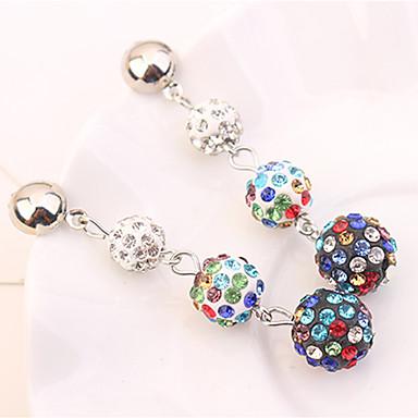 Women's Long Drop Earrings - Ball Fashion Blue / Black / White / Rainbow For Party