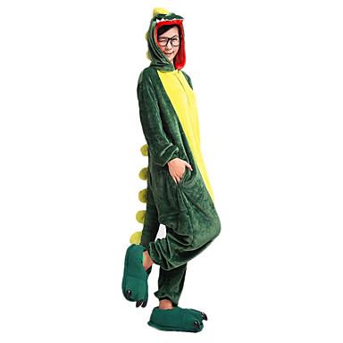 Кигуруми Пижамы Динозавр трико/Комбинезон-пижама Тапочки Фестиваль / праздник Нижнее и ночное белье животных Хэллоуин Зеленый Пэчворк