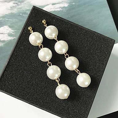 Pentru femei Obsidian Cercei Picătură Perle cercei Bijuterii Auriu / Argintiu Pentru Nuntă Dată