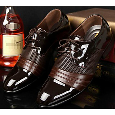 povoljno Uključene ponude-Muškarci Udobne cipele PU Proljeće / Jesen Uglađeni Oksfordice Crn / Braon / EU40