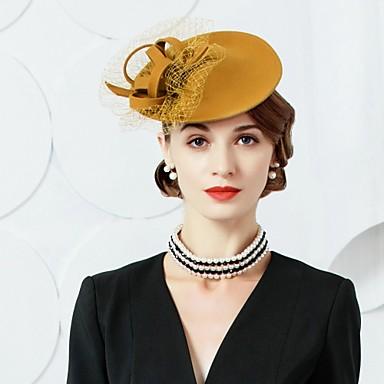 voordelige Hoeden-Wol / Tule Kentucky Derby Hat / fascinators / hatut met 1 Bruiloft / Feest / Uitgaan Helm
