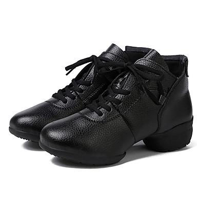 Női Tánccipők Bőr Kétrészes talp Személyre szabott sarok Személyre szabható Dance Shoes Fekete
