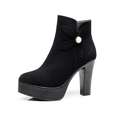 Mujer Zapatos Semicuero Invierno Botas de Moda Botas Dedo Puntiagudo Botines / Hasta el Tobillo Perla de Imitación Blanco / Negro / Rojo Images Footlocker En Ligne DLk9A