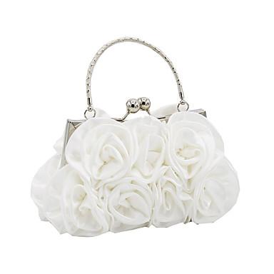 Női Táskák Szatén Estélyi táska Virág Fekete / Rubin / Forgásc / Esküvői táskák / Esküvői táskák