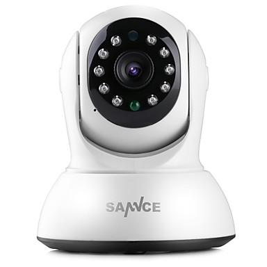 SANNCE 1.0 MP Indoor with IR-cut 64(Day Night Motion Detection Remote Access Plug and play Wi-Fi Protected Setup IR-cut) IP Camera