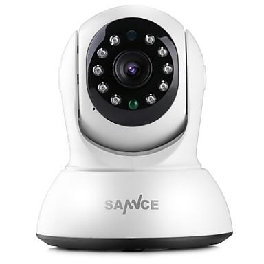 SANNCE 1.0 MP Otthoni with IR-cut 64(Éjjel-nappali Mozgásérzékelő Távelérés Plug and play Wi-Fi Protected Setup IR-cut) IP Camera