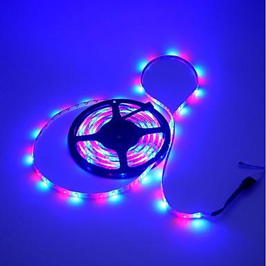 5 m RGB szalagfények 300 LED 3528 SMD RGB Cuttable / Öntapadós / Színváltós 5 V 1db / IP65