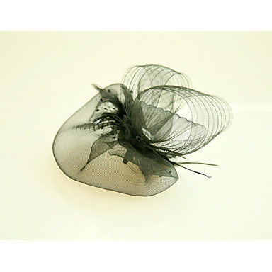 Tulle Feather Net Fascinators Hats with Feather 1 Wedding Special Occasion Event/Party Headpiece