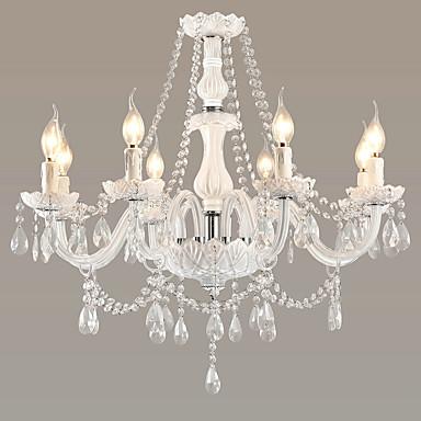 LWD 8-Light Gyertya-style Csillárok Falilámpa - Kristály, Állítható, A tervezők, 110-120 V / 220-240 V Az izzó nem tartozék / 15-20 ㎡