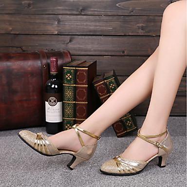 Női Modern cipők Csillogó flitter Illesztés Személyre szabott sarok Személyre szabható Dance Shoes Arany / Piros / Otthoni