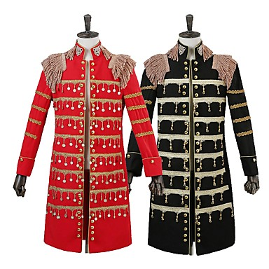 Prince Cosplay Costume Men's Christmas Halloween Carnival New Year Festival / Holiday Halloween Costumes Black Red Solid Color
