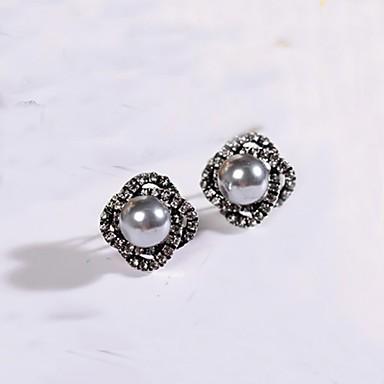 Női Gyöngy Mértani Beszúrós fülbevalók / Francia kapcsos fülbevalók - Rózaszín gyöngy, Szürke gyöngy Szürke / Rózsaszín Kompatibilitás Napi / Hétköznapi