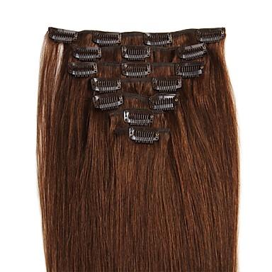 Febay Clip In Ludzkich włosów rozszerzeniach Klasyczny Doczepy z naturalnych włosów Włosy naturalne Damskie - Średni brąz Truskawkowy blond / Jasny blond Średni brąz / Tleniony blond