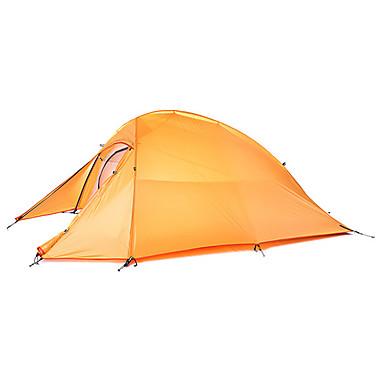 Naturehike 2 Pessoas Abrigo e Lona Encerada / Barracas de Acampar Leves Dupla Camada Poste Dome Barraca de acampamento Ao ar livre Prova-de-Água, Á Prova-de-Chuva, Bem Ventilado para Pesca / Praia