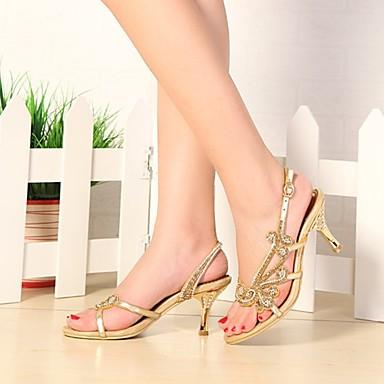 Printemps Cristal ouvert Paillette à Sandales Eté Talon Bout la Bottes Strass Aiguille 06308689 Femme Mode Chaussures Polyuréthane Brillante qEn6CZfw
