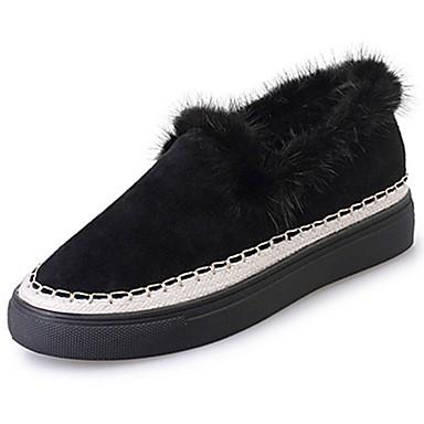 Damskie Obuwie Nubuk Zima Comfort Mokasyny i pantofle Okrągły Toe na Black / Brown
