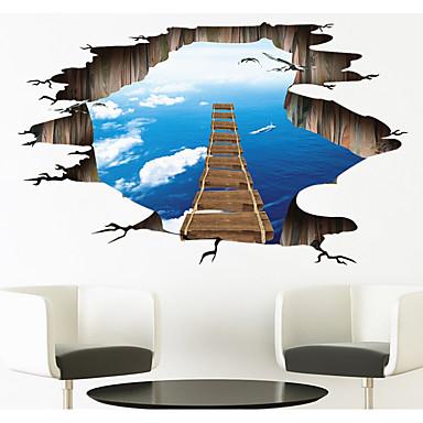 Streszczenie Kaprys 3D Naklejki Naklejki ścienne 3D Dekoracyjne naklejki ścienne, Papierowy Dekoracja domowa Naklejka Ściana